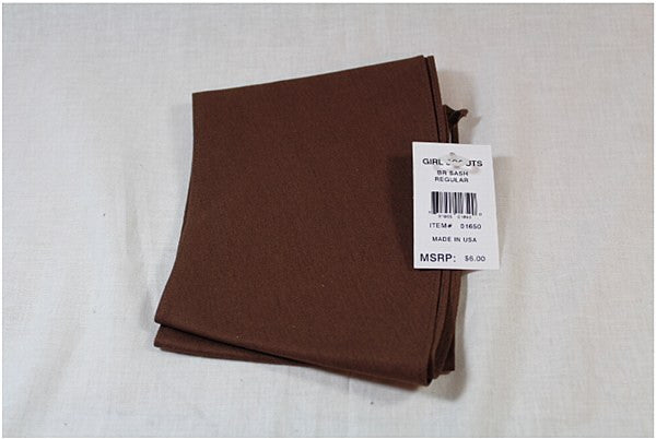 Brownie Sash Reg P/C Twill