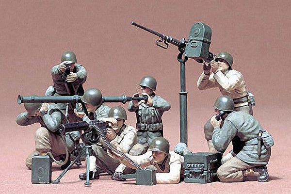 1:35 USA Gun and Mortar Team