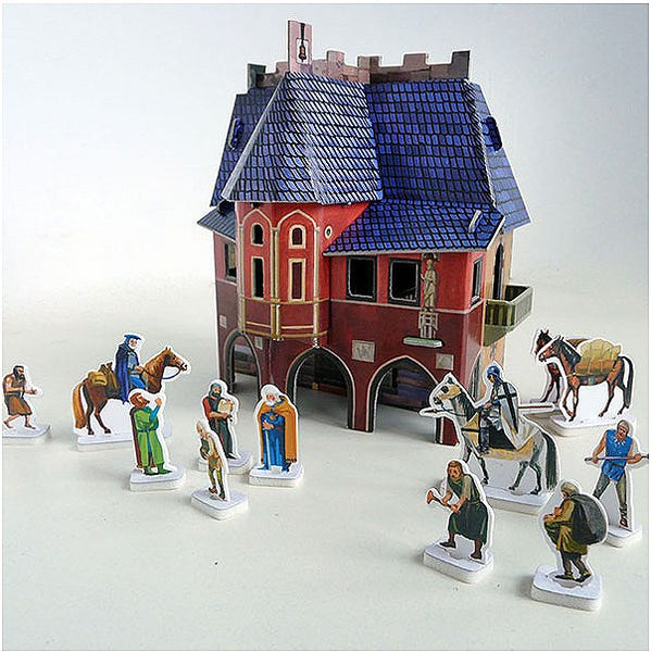 Medieval Town Hall Paper Kit