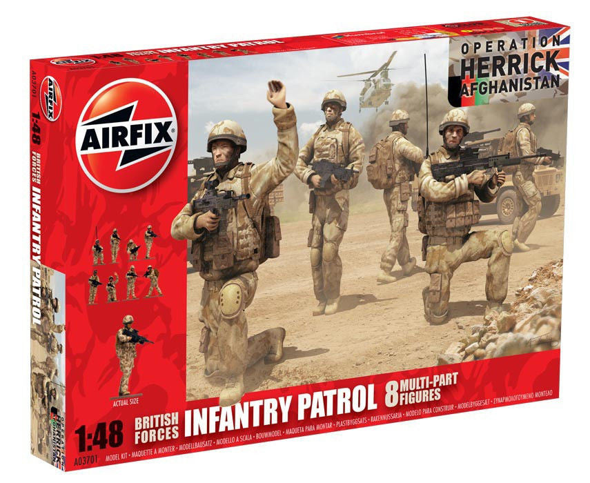 1:48 UK Infantry Patrol Troops -  A03701