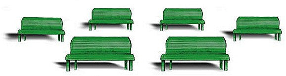 HO Park Benches