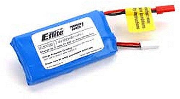 7.4V 860mAh 2-Cell LIPO Batter