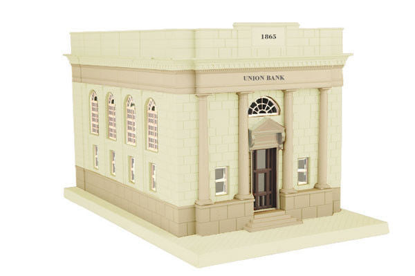 O City Bank w/Coin Slot