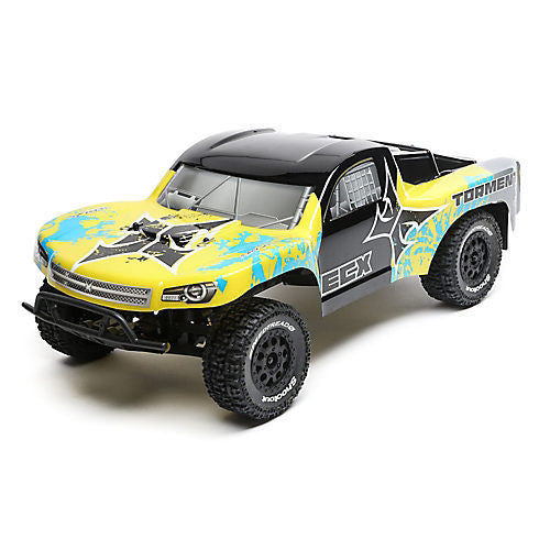 ECX 1/10 2WD Torment SCT Brushed, LiPo: Yel/Blue RTR