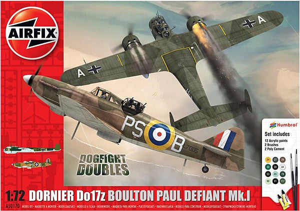 1:72 Boulton Paul Defiant Mk.1 Dornier Do17z Dogfight Doubles Gift Set – A50170