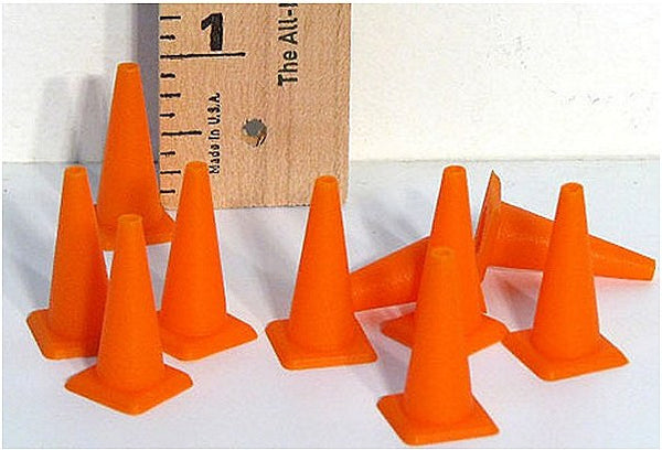 Safety Cones for Track Scenery