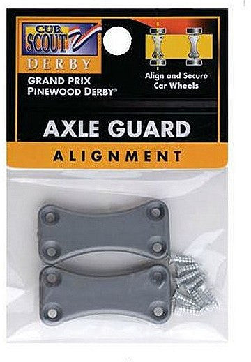 Pinewood Derby Axle Guard