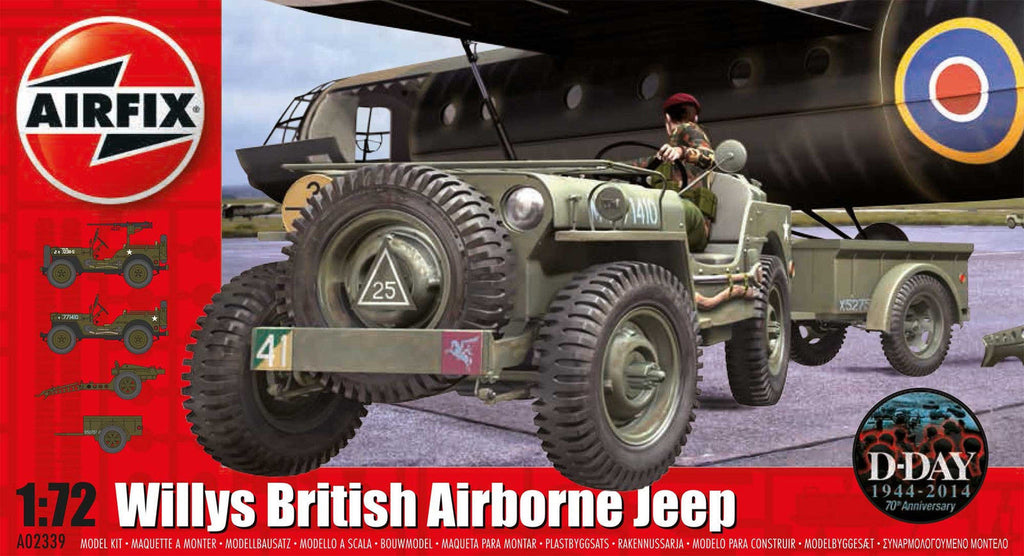 1:72 UK Jeep Trailer and Gun - A02339