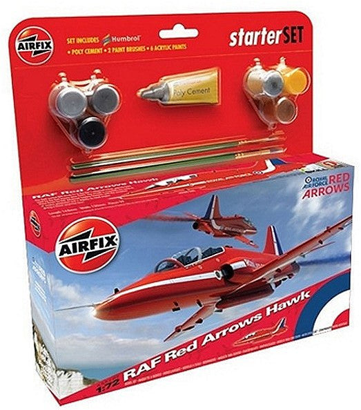 1:72 RAF Red Arrows Hawk Starter Set – A55202