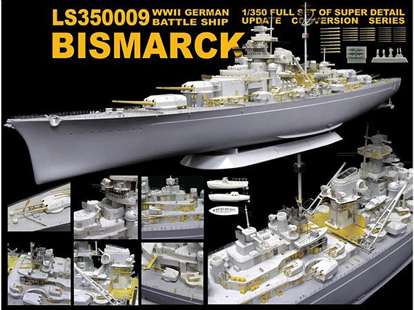 1:350 GER Bismarck Detail Kit