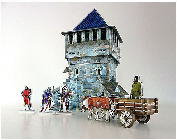 Medieval Top Tower Paper Kit