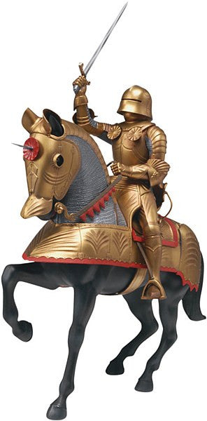 1:8 Gold Knight with Horse