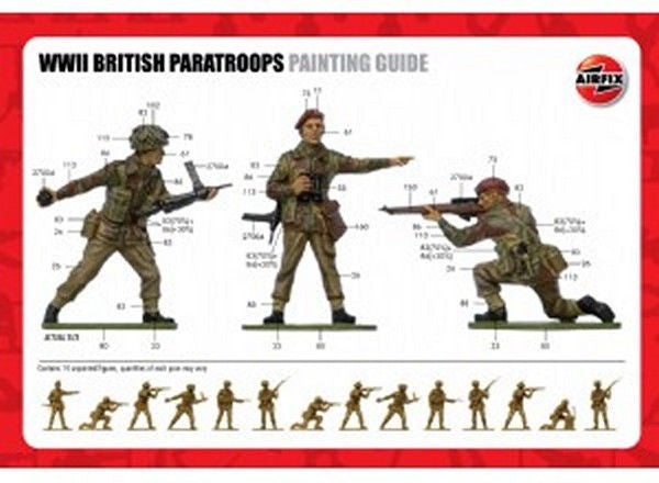 1:32 UK WWII Paratroops - A02701