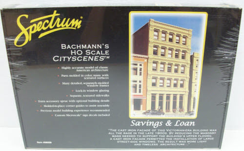 Bachmann 88008 HO Savings & Loan Bldg. Kit