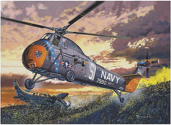 1:48 USN H-34 Helicopter