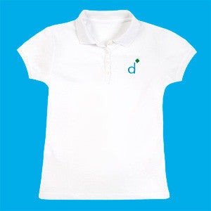 Daisies Polo Shirt - White