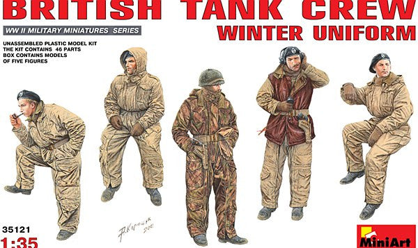 1:35 UK Tank Crew Winter