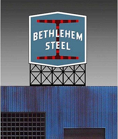 HO/N Bethlehem Steel Billboard