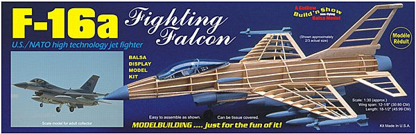 1:30 USA F-16 Falcon Balsa