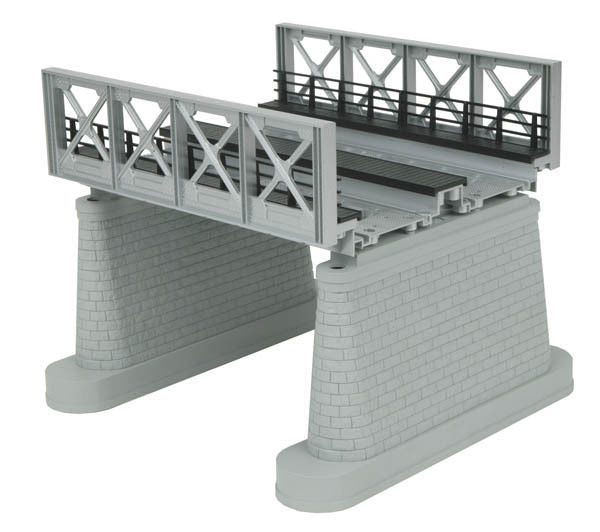 O 2-Track Bridge Girder Silver