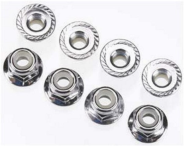 4mm Flanged nylon locking nuts