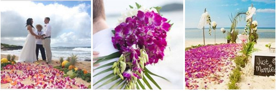Gallery purple orchid flower arrangement design idea - green orchid wedding