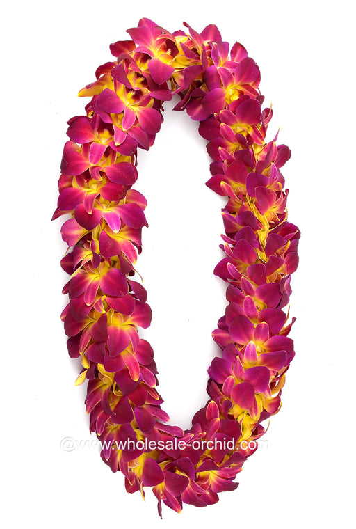 double orchid lei, hawaiian orchid lei, orchid lei