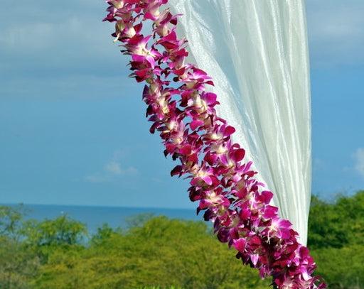 Orchid Garland SINGLE Purple Sonia Orchid Lei strand (4 FEET & 2 FEET)