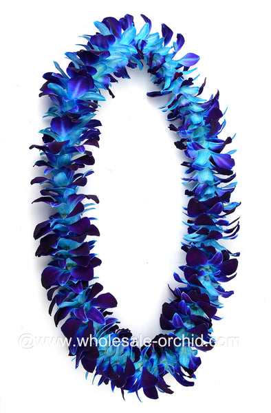 SINGLE Lei - Blue Sonia Orchid Lei