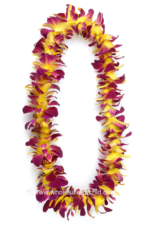 SINGLE Lei - Yellow Sonia Orchid Lei