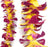 sigle lei red yellow orchid