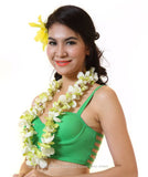 SINGLE Lei - White Orchid Green Jade Lei