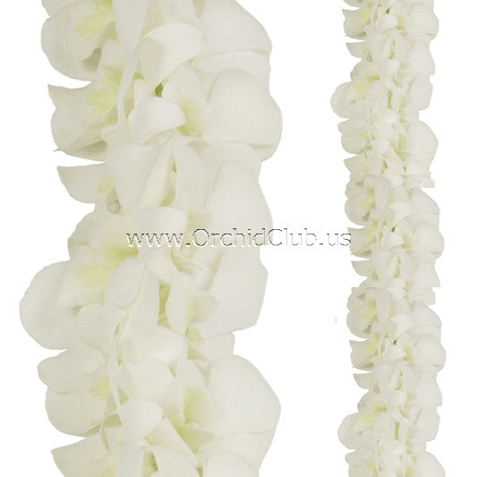 Orchid Garland DOUBLE white orchid Lei Strand ( 4 FEET & 2 FEET)