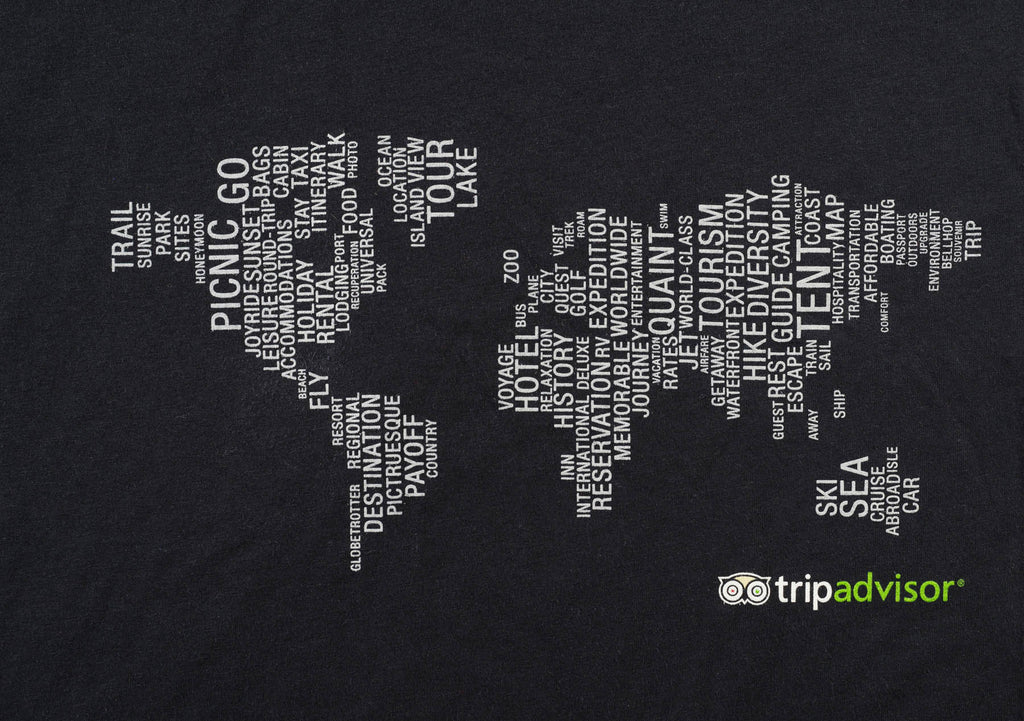 World Map TShirt The TripAdvisor Store - World world map