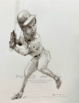 Bo Jackson - KC Royals - Sketch