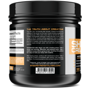 Sheer Strength Labs Creatine Sheer Micronized Creatine Monohydrate Powder