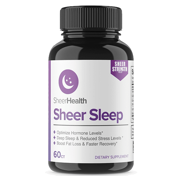 Sheer Strength Labs Health & Wellness Sheer Sleep | Natural Sleep Aid Pills with Melatonin, GABA, Valerian Root and More