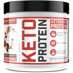 Sheer Strength Labs Keto Chocolate 1 Serving Sample Sheer Keto Protein | Low Carb Ketogenic Friendly Formula