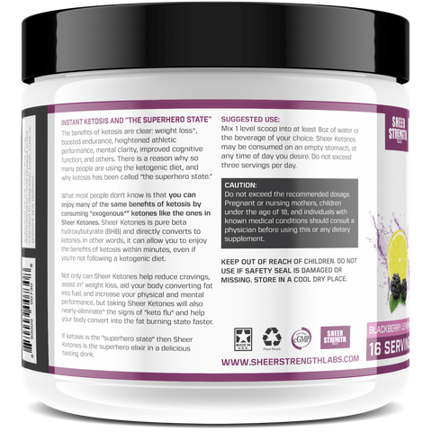 Sheer Exogenous Ketones BHB Salts Supplements