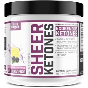 Sheer Strength Labs Keto Sheer Exogenous Ketones BHB Salts Supplement (Blackberry Lemonade)