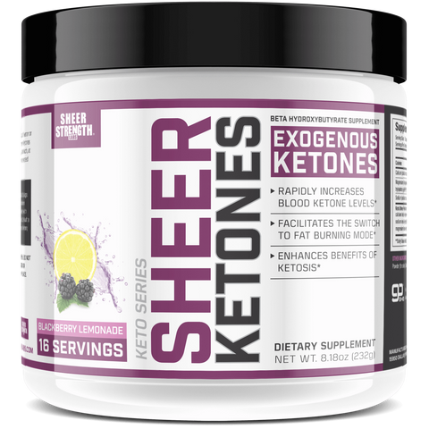 Sheer Exogenous Ketones BHB Salts Supplement (Blackberry Lemonade)