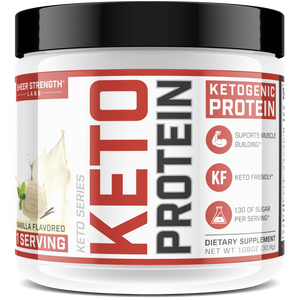 Sheer Strength Labs Keto Vanilla 1 Serving Sample Sheer Keto Protein | Low Carb Ketogenic Friendly Formula
