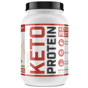 Sheer Strength Labs Keto Vanilla 20 Serving Tub Sheer Keto Protein | Low Carb Ketogenic Friendly Formula