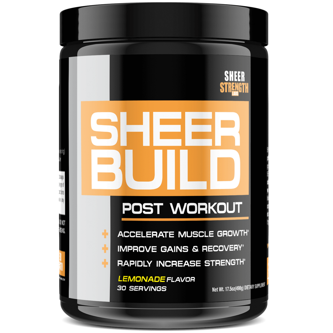 Sheer Strength Labs Muscle Builder Sheer Build Post Workout Supplement (Lemonade)