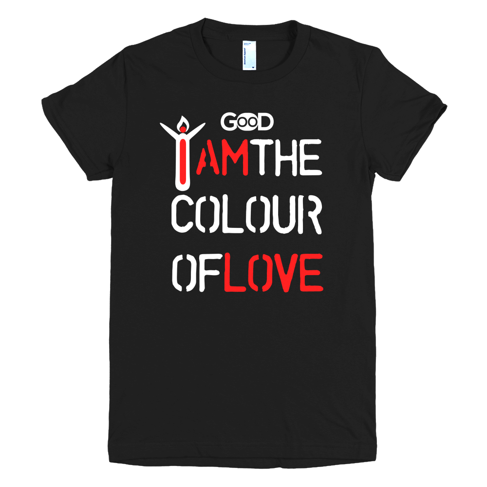 Design t shirt love - I Am The Colour Of Love Women T Shirt With White Design