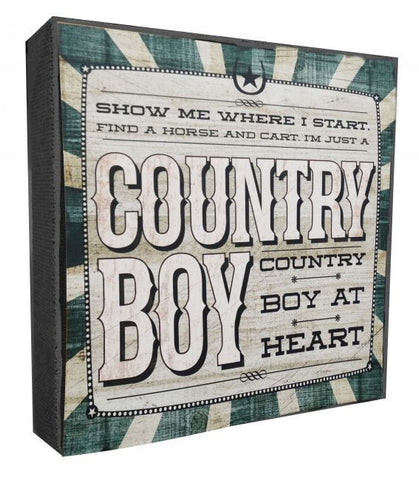 Country Boy Wall Art