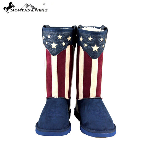 American Flag Suede Boots