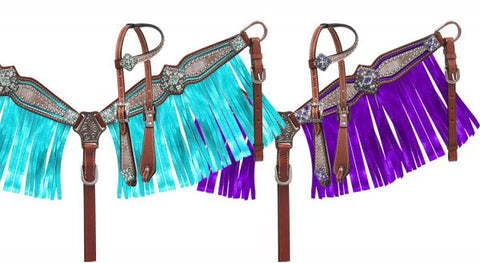 Pony Size Fringe Headstall and Breast Collar Set