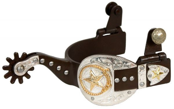 Ladies 10 Point Rowel Spurs with Antique Buckle Tip