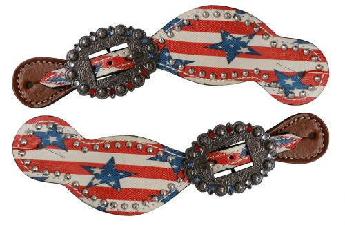 Ladies Stars N' Stripes Spur Straps